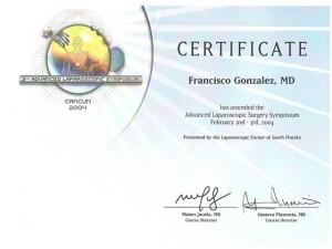 Advanced Lap Surgery Certificate - Tijuana Bariatric Surgeon