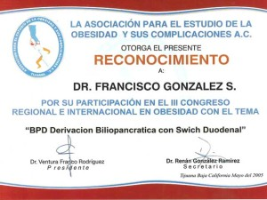 BPD Duodenal Switch - Dr. Francisco Gonzalez - Tijuana
