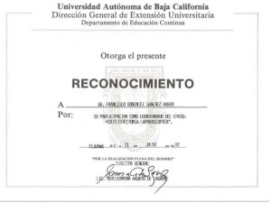 Dr. Francisco Gonzalez - Lap Cholecystectomy Certificate - Tijuana